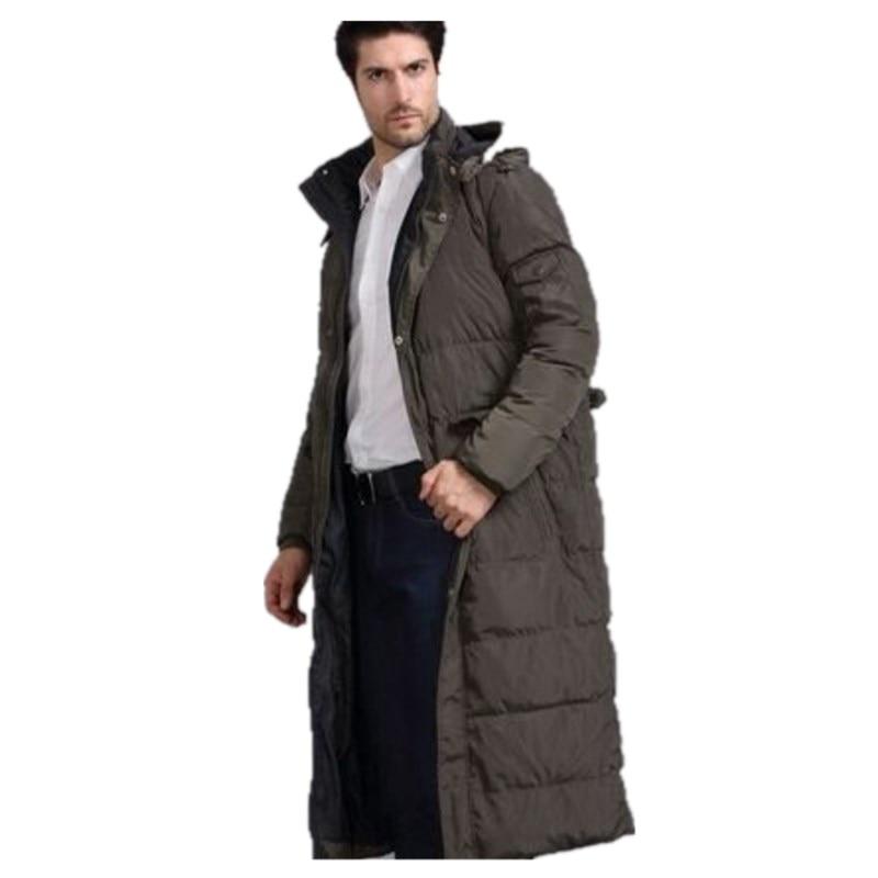 Утепленное пальто, Удлиненные мужские куртки, зима 2021, Мужская черная зимняя длинная теплая верхняя одежда, мужское теплое пуховое пальто в ...