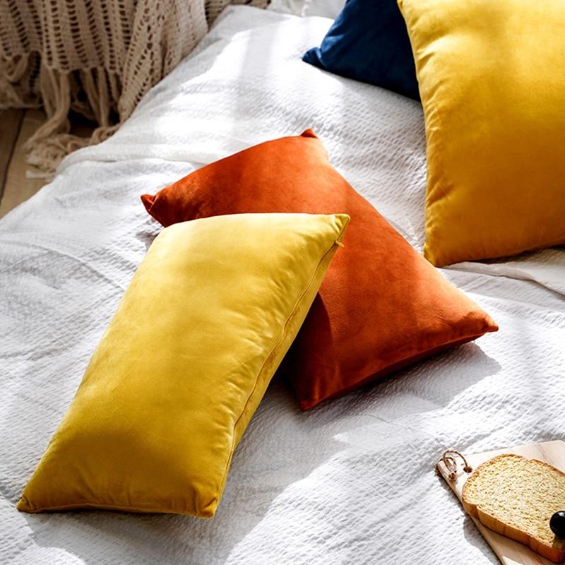 Супер мягкая вельветовый чехол для подушки наволочка для дивана гостиной Housse De 30 30x50 см Декоративные подушки нордическое украшение