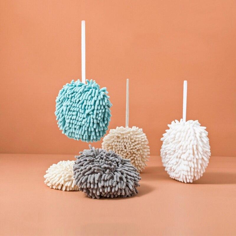 Toalla de manos de limpieza bola Super absorbente de secado rápido suave al tacto prevenir el crecimiento bacteriano Salud para niño 19x19CM
