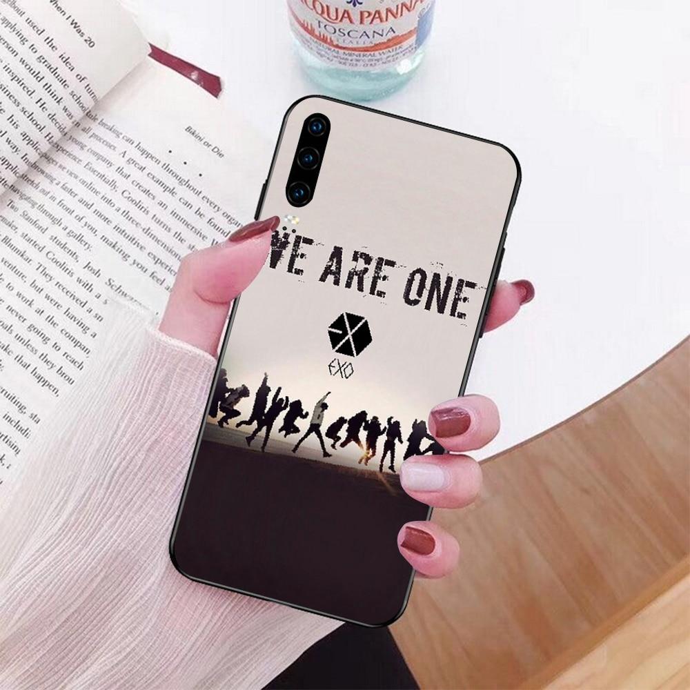 NBDRUICAI Kpop EXO Lucky Phone Case cover Shell for Huawei P9 10 lite P20 pro lite P30 pro lite Psmart mate 20 pro lite