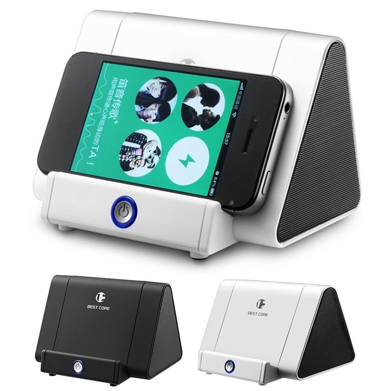 Alto-falante de indução estéreo sem fio multi-função mini orador de música suporte do telefone altifalante para iphone andriod telefone