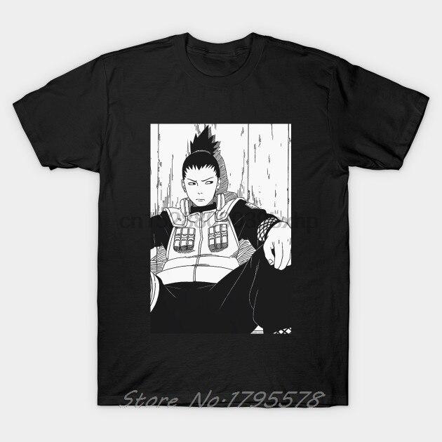 Мужская футболка Shikamaru (манга) Наруто, женская футболка, летняя хлопковая футболка с коротким рукавом, топ аниме Харадзюку