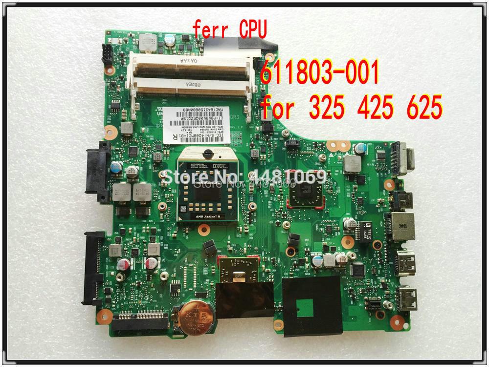 Para HP 625 cuaderno para Compaq 325 326 425 Notebook 611803-001 CQ325 325, 425 de 625 placa base de computadora portátil 100% la probado OK