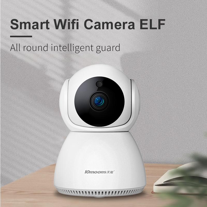 10moons-كاميرا مراقبة IP صغيرة للمنزل ، 1080 بكسل ، واي فاي ، شبكة للرؤية الليلية ، CCTV ، مراقبة الطفل ، 1920 × 1080