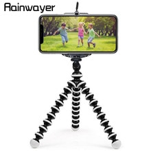 Rainwayer 휴대용 낙지 삼각대 브래킷 유연한 전화 홀더 접이식 카메라 스마트 폰 moblie 삼각대 gopro 카메라 a2