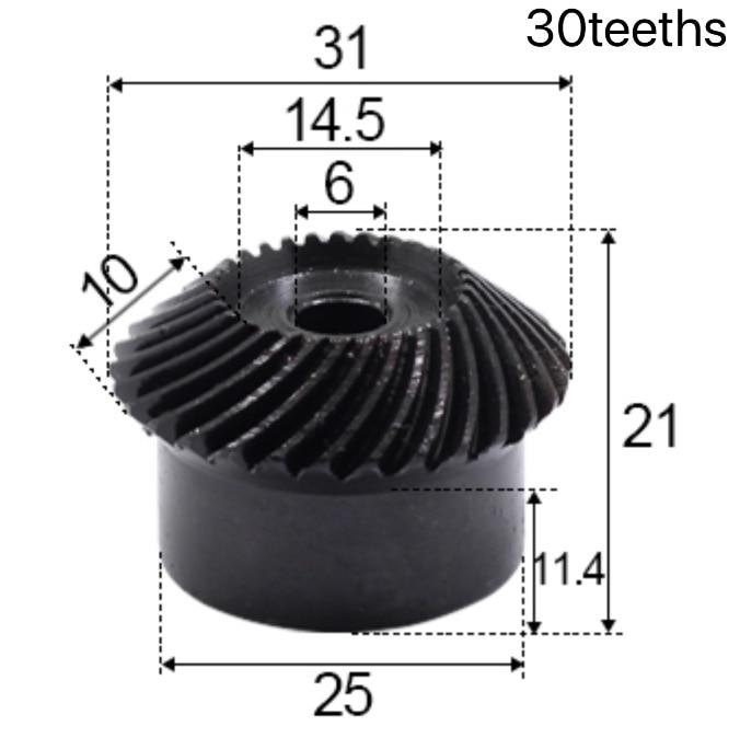 2 قطعة 1 وحدة 20/25/30Teeths حفرة الداخلي: 6 مللي متر 1:1 الدقة ترس مخروطي حلزوني الكرتون الصلب