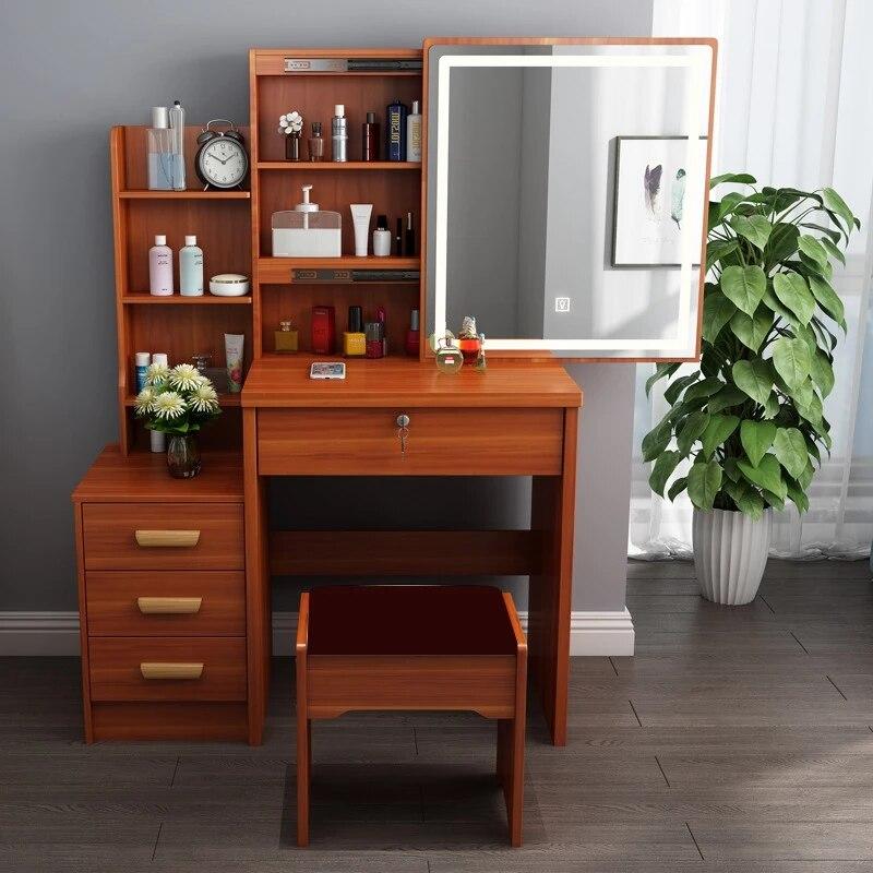 Роскошный шкаф для хранения 80 см, современный туалетный столик, шкафчик для квартиры, туалетный столик для спальни, туалетный столик с легки...
