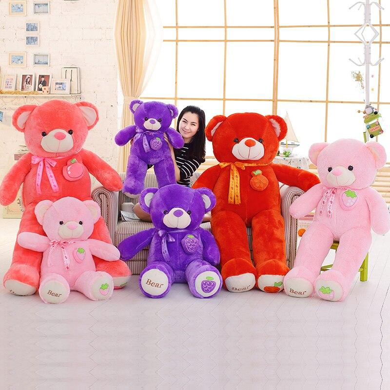 Lovely Strawberry Fruit Teddy Bear Stuffed Animals Kawaii Plush Soft Toys Novelty & Special Use for