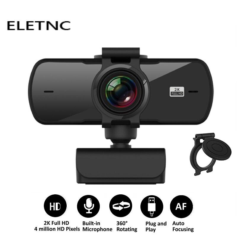 86. Webcam 1080P 2K HD para Ordenador con Micrófono. USB.
