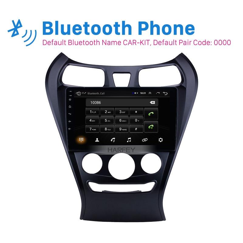 Harsey 9 pulgadas 2din Android 9,1 Radio de coche para 2012 Hyundai EON 2.5D pantalla táctil soporte de navegación GPS Carplay DAB + OBD2 TPMS AUX