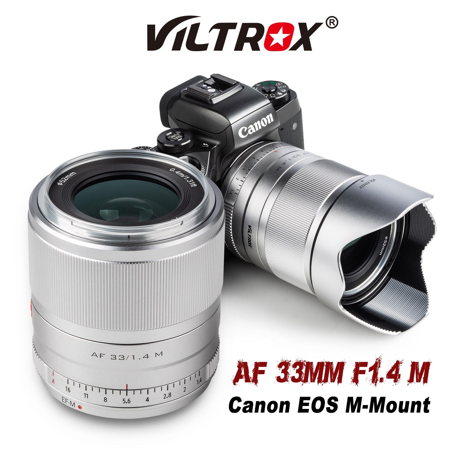 Viltrox 33 مللي متر f1.4 STM عدسة الكاميرا السيارات التركيز رئيس APS-C لكانون EOS متر جبل EF-M عدسة M5 M6 مارك II M200 M50 M100