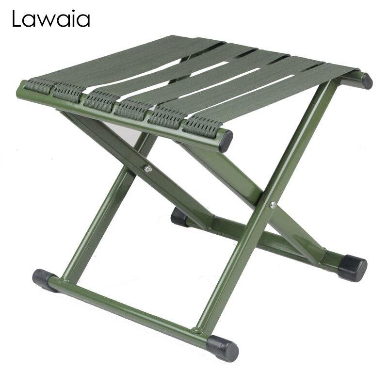 Lawaia Fishing Chair Army Green Outdoor Fishing Mini Portable Small Bench Military Super Light Wearable Fishing Folding Stool