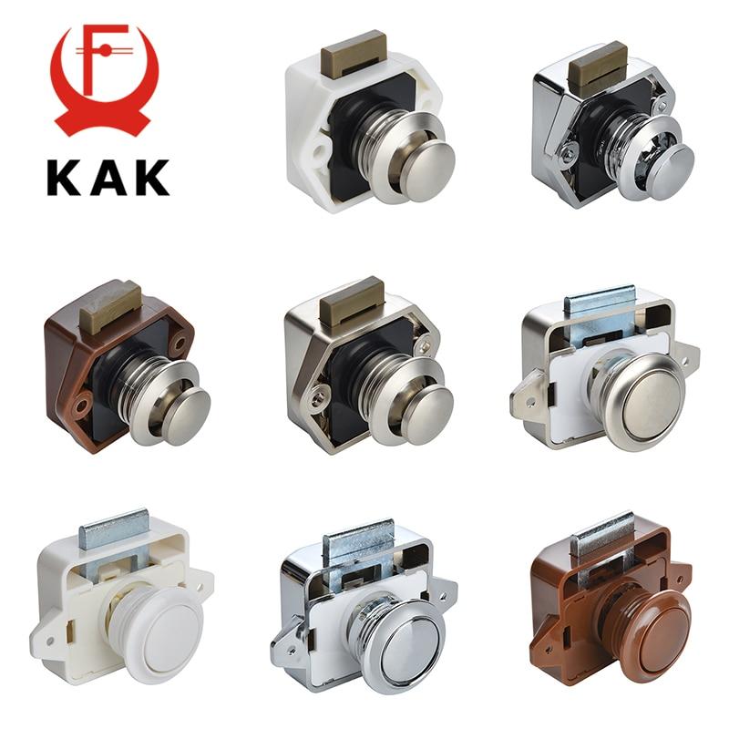 KAK 20 pieces RV Lock Push Lock for Camper Car RV Yacht Push Locks Furniture Cabinet Door Lock Hardware Child Safety Drawer Lock