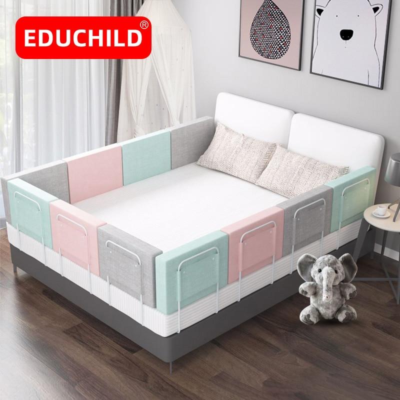 Бампер для кровати Educhild, ограждение для детской кровати, направляющие для детской кроватки с защитой от столкновений, безопасное ограждени...