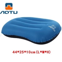 aotu portable inflatable pillow camping equipment compressible folding air cushion outdoor protective tourism sleeping gear