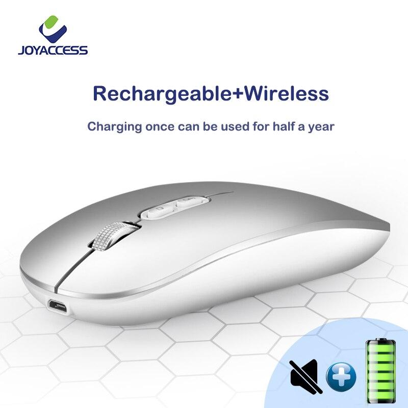 Беспроводная мышь J joyдоступ, бесшумная Мышь 2,4 ГГц, компьютерная мышь Mause, перезаряжаемая Встроенная батарея, usb-приемник, мыши, эргономичные ...