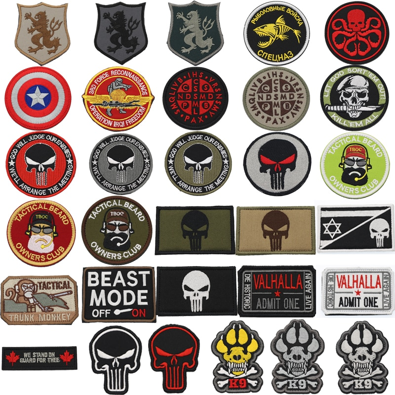 Parche de brazalete táctico de doble cara bordado militar para enviar ropa áspera mochila pulsera de rayas con gancho y insignia de lazo