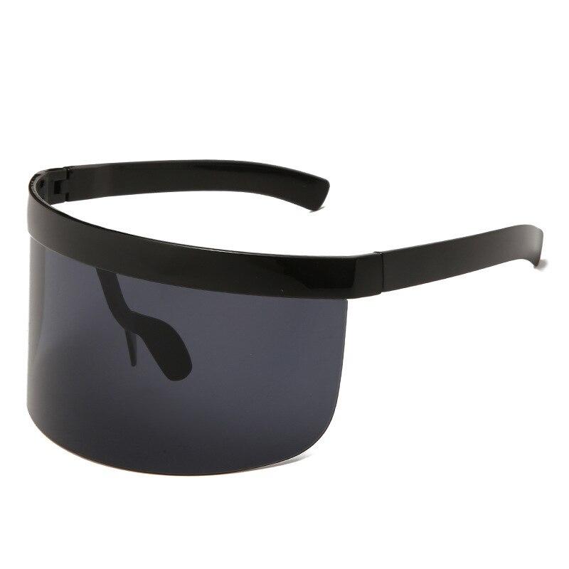 Мода негабаритные Солнцезащитные очки женские и мужские брендовые дизайнерские очки солнцезащитные очки с большой оправой щит козырек для...