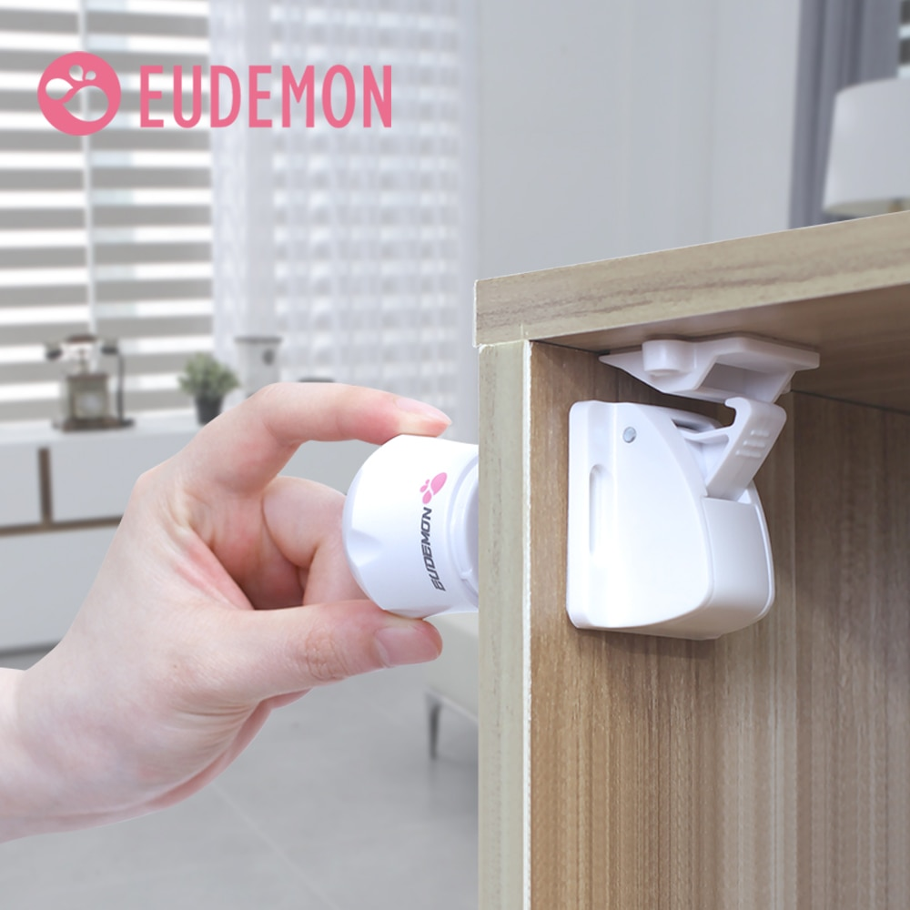 EUDEMON 8pcs Magnetic Child Lock Baby Safety Cabinet Drawer Door Lock Children Protection Invisible Lock Kids Security
