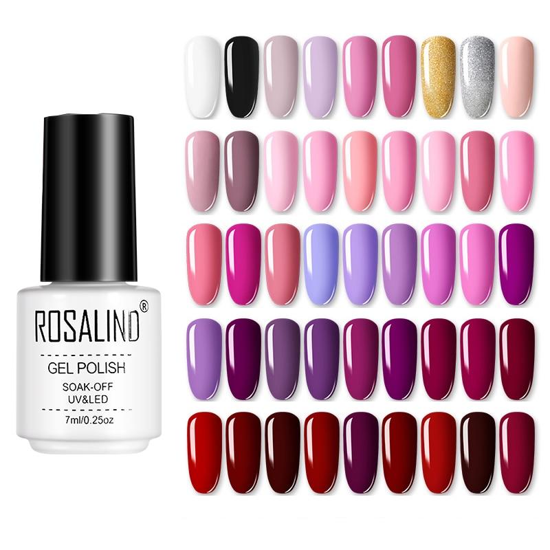 ROSALIND Gel Polish UV Vernis Semi Permanent Primer Top Coat 7ML Varnish primer Gel Nail Art Manicure Gel Nail Polish недорого