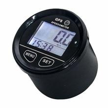 GPS blanc rétro-éclairé 1 pièce   Voiture, GPS, blanc, compteur de vitesse, avec Kits de montage, bonne qualité, DC 10-24V, GPS, accessoires pour UTVs