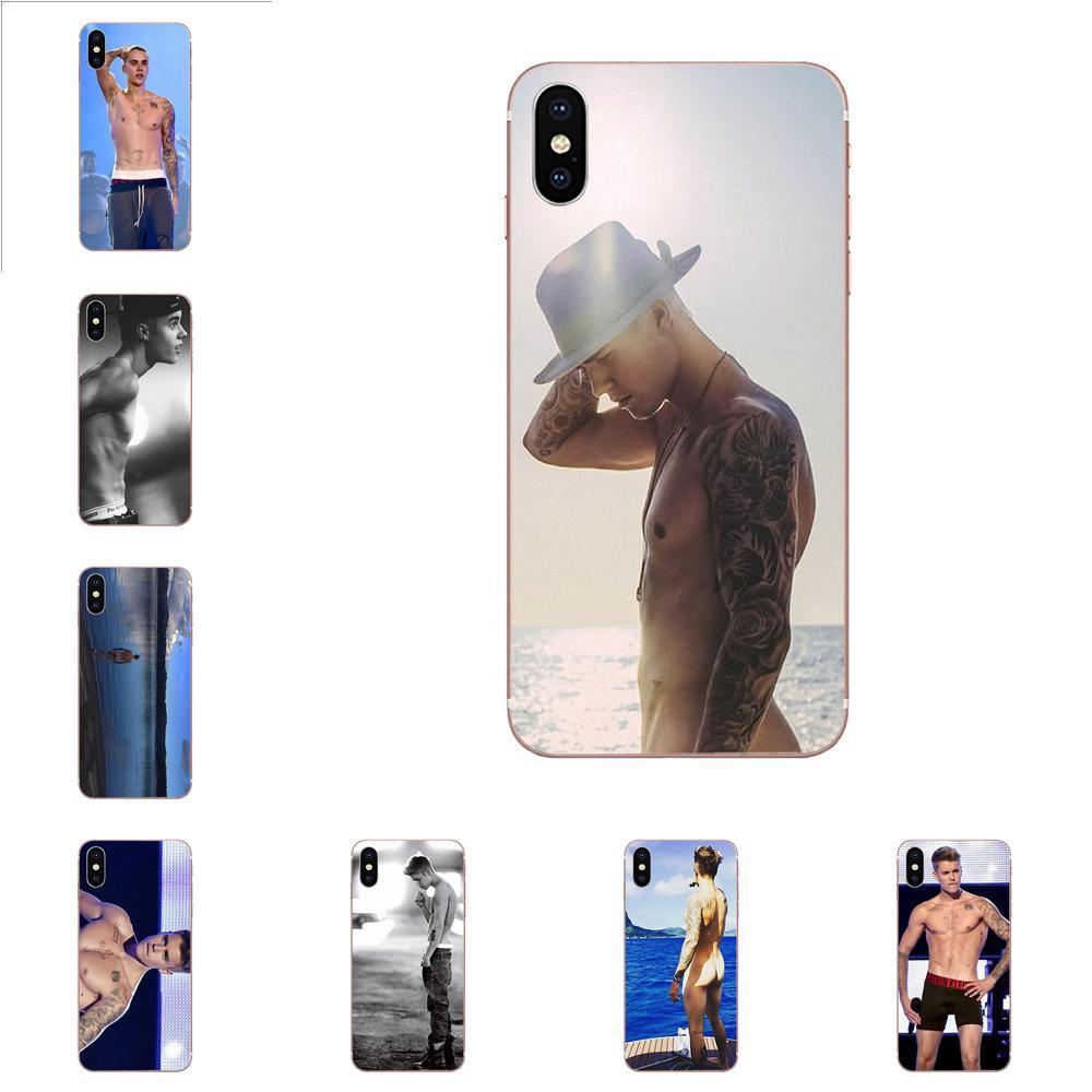 Desnudo Justin Bieber música Pop estrella TPU de lujo para Samsung Galaxy J1 J2 J3 J330 J4 J5 J6 J7 J730 J8 2015, 2016, 2017, 2018 mini Pro