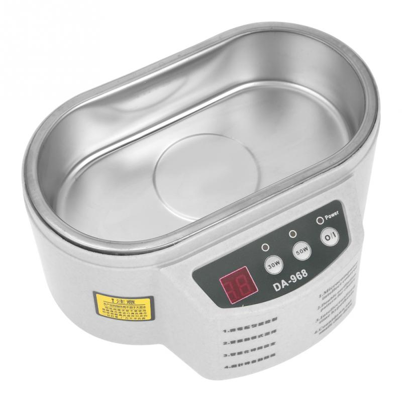 Mini 600ml 40KHz Ultrasonic Cleaner Cleaning Tank Machine For Jewelry Eyeglasses Watch Household AC 220V Tools