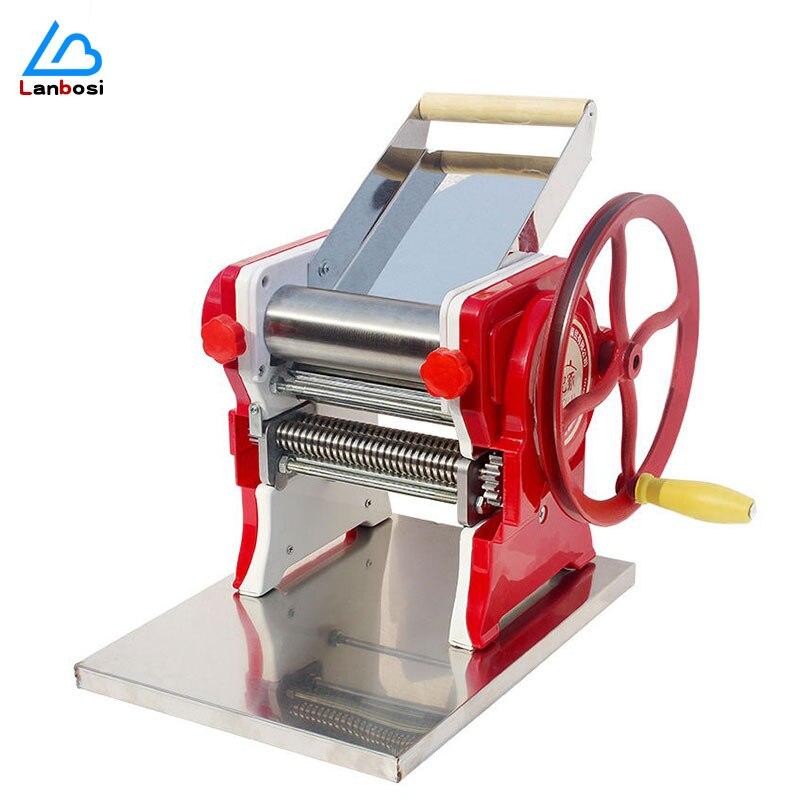 ماكينة صنع المكرونة اليدوية المنزلية الفولاذ المقاوم للصدأ الطراز القديم ماكينة صنع المكرونة جهاز تغليف زلابية