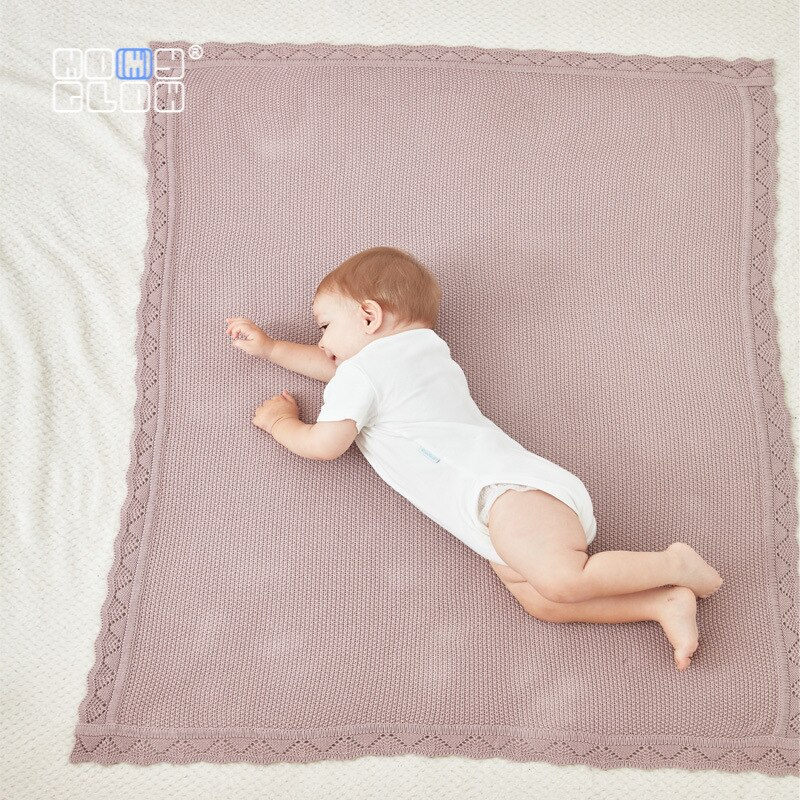 Cotton Swaddle Baby Accessories Receiving Blankets Swaddle Wrap Baby Towel Knitted Blankets Newborn Stroller Blanket