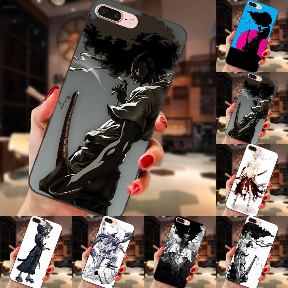 Afro Samurai Ninja Ninja Für Apple iPhone 4 4S 5 5S SE 6 6S 7 8 Plus X XS Max XR Weichen Abdeckung Fall