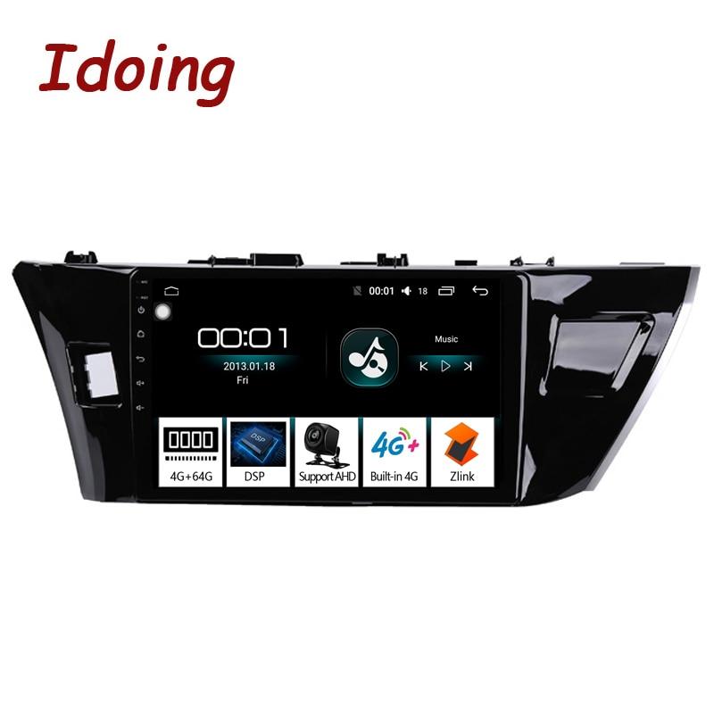 "Idoing 10.2""4G+64G 2.5D Octa Core Car Radio Android 8.1 Multimedia Player For Toyota Corolla 2014-2016 E170 E180 GPS Navigation"