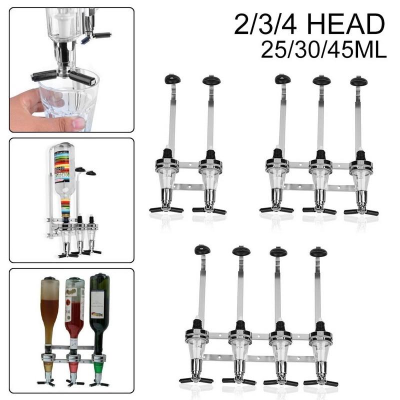 2/3/4-Bottle Drink Liquor Dispenser Stand Drinks Spirits Party Bar Kitchen Tools Stainless Steel Wall Mount Alcohol Dispenser#