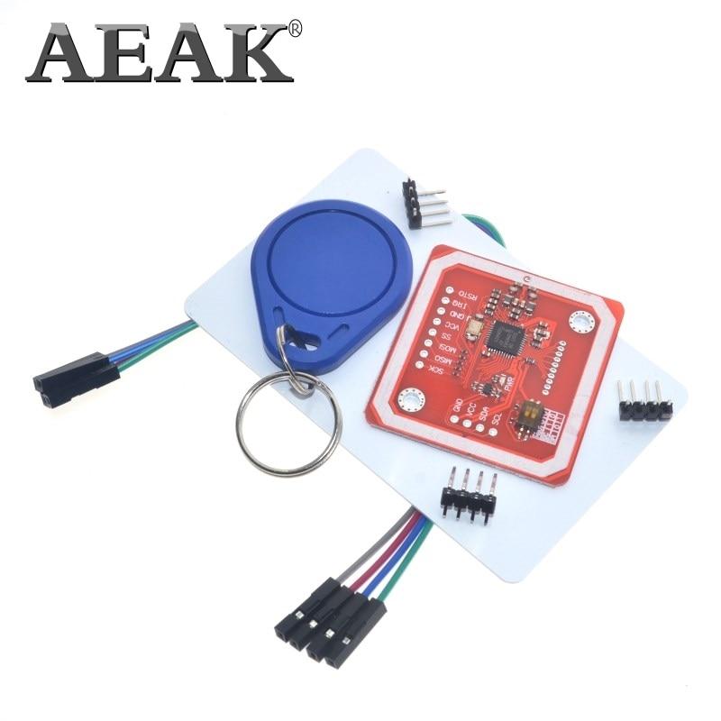 AEAK 1Set PN532 NFC RFID Wireless Module V3 User Kits Reader Writer Mode IC S50 Card PCB Attenna I2C IIC SPI HSU For Arduino