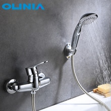 Olota robinet de bain à poignée unique   Ensemble de salle de bains et de douche, robinet de douche à poignée unique, technologie de Conservation de leau OL7137