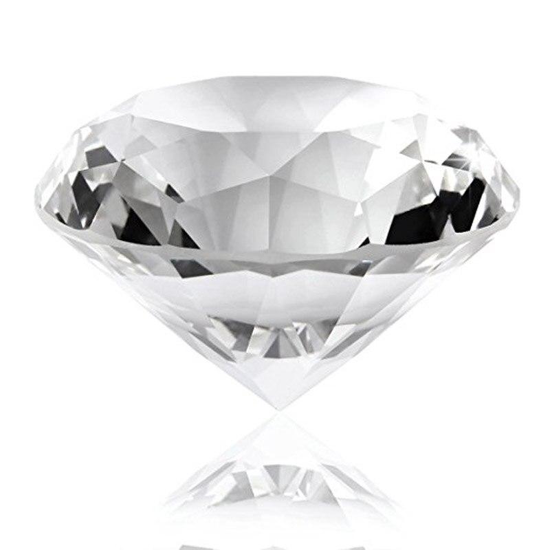 60mm/2,36 zoll Klar Kristall Diamant Glas Diamant Briefbeschwerer Großhandel Transparent Hause Dekoration Zubehör