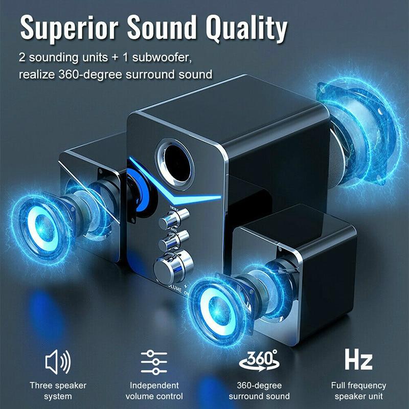 Portable Computer Bluetooth Speaker Surround Bass Stereo Speaker Multimedia Bluetooth Speaker with Subwoofer enlarge