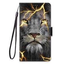 Pour Samsung Galaxy S10 S9 Plus S10E S8 S7 S6 S5 Aimant Tigre Loup Lion Leather Flip Étui Couverture Pour Samsung S 10 9 Plus