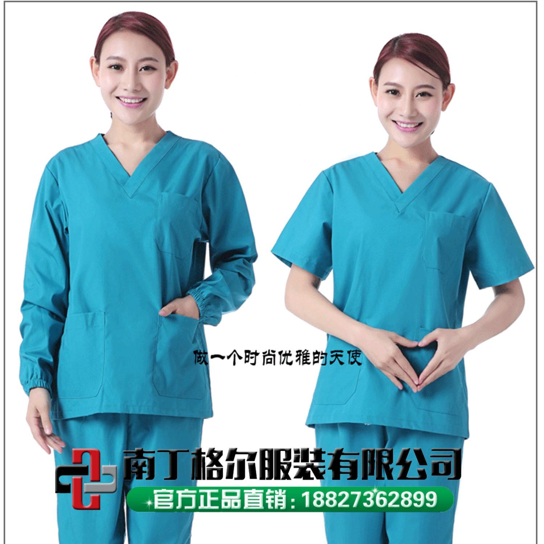 Больничная одежда для ручной стирки, комплект с коротким рукавом, хлопковая Хирургическая Одежда, изоляционная одежда, одежда с кисточками ...