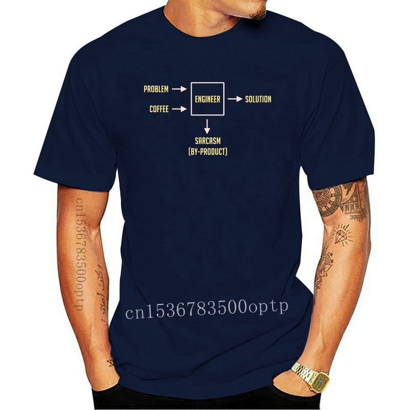 New Tops T Shirt Men engineering sarcasm by product Fit Inscriptions Cotton Male Tshirt