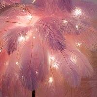Plumes en cuivre feerique  nouvelles couleurs a la mode  plumes pelucheuses  lampe pour fete de mariage  pieces de Center de decoration  decoration de maison