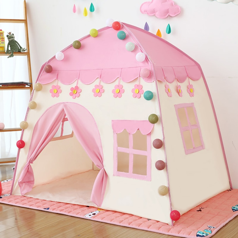 Kids Toy Tent Children Indoor Princess Teepee Bed Girl Boy Baby Tipi Child Doll Home Folding House Play Wigwam For Children Gift