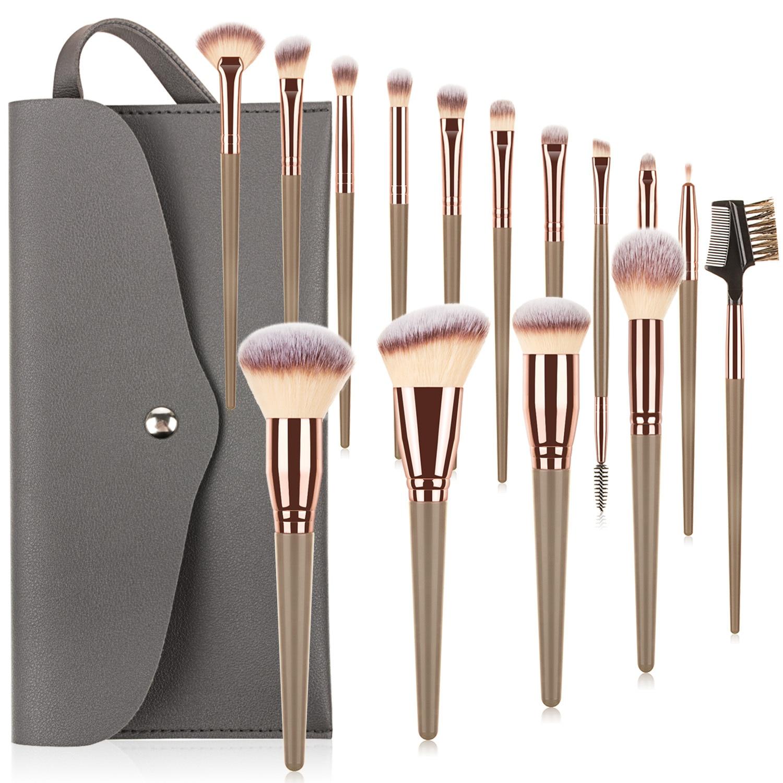 15 Pcs professional Makeup Brushes kit For Blush Contour Eye shadow Foundation powder Eyeliner Lip Make up Brush Set Cosmetics недорого