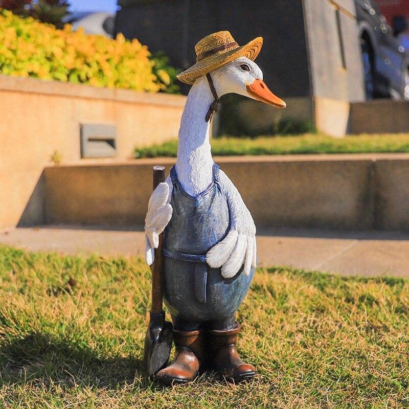 راتنج حلو بطة في الهواء الطلق تمثال مرنة محاكاة بطة الحلي للخارجية ساحة الحديقة ديكور للحديقة I88