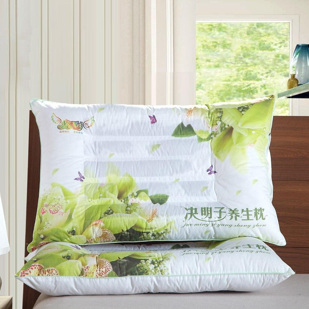 وسادة لغرفة النوم ، وسادة طبية ، ملونة ، خزامي ، كاسيا ، ياسمين ، جلد القمح ، للرعاية الصحية ، 45 × 74 سنتيمتر