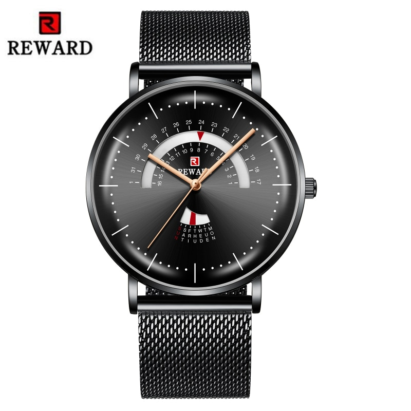 Relogio Masculino Mens Watch REWARD Luxury Waterproof Stainless Steel Watch Men Fashion Date Clock Relojes Hombre 2019