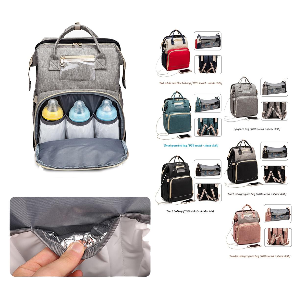 2021 Fashion Mummy Maternity Nappy Bag Large Capacity Nappy Bag Travel Backpack Nursing Bag for Baby Care Women's Fashion Bag