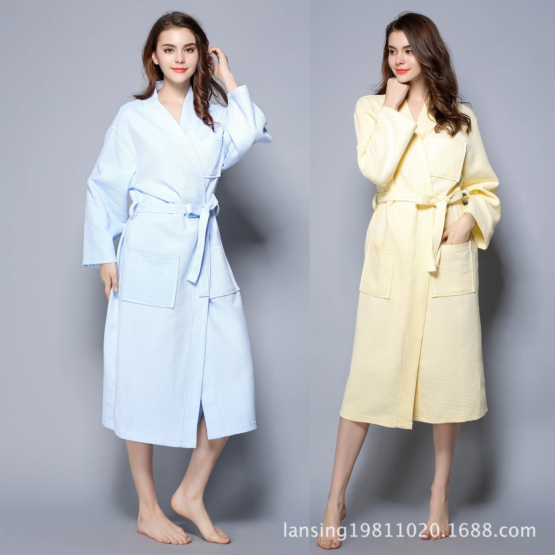 2020 nuevo Kimono Robe mujeres Albornoz algodón mujeres 60-100kg 1684