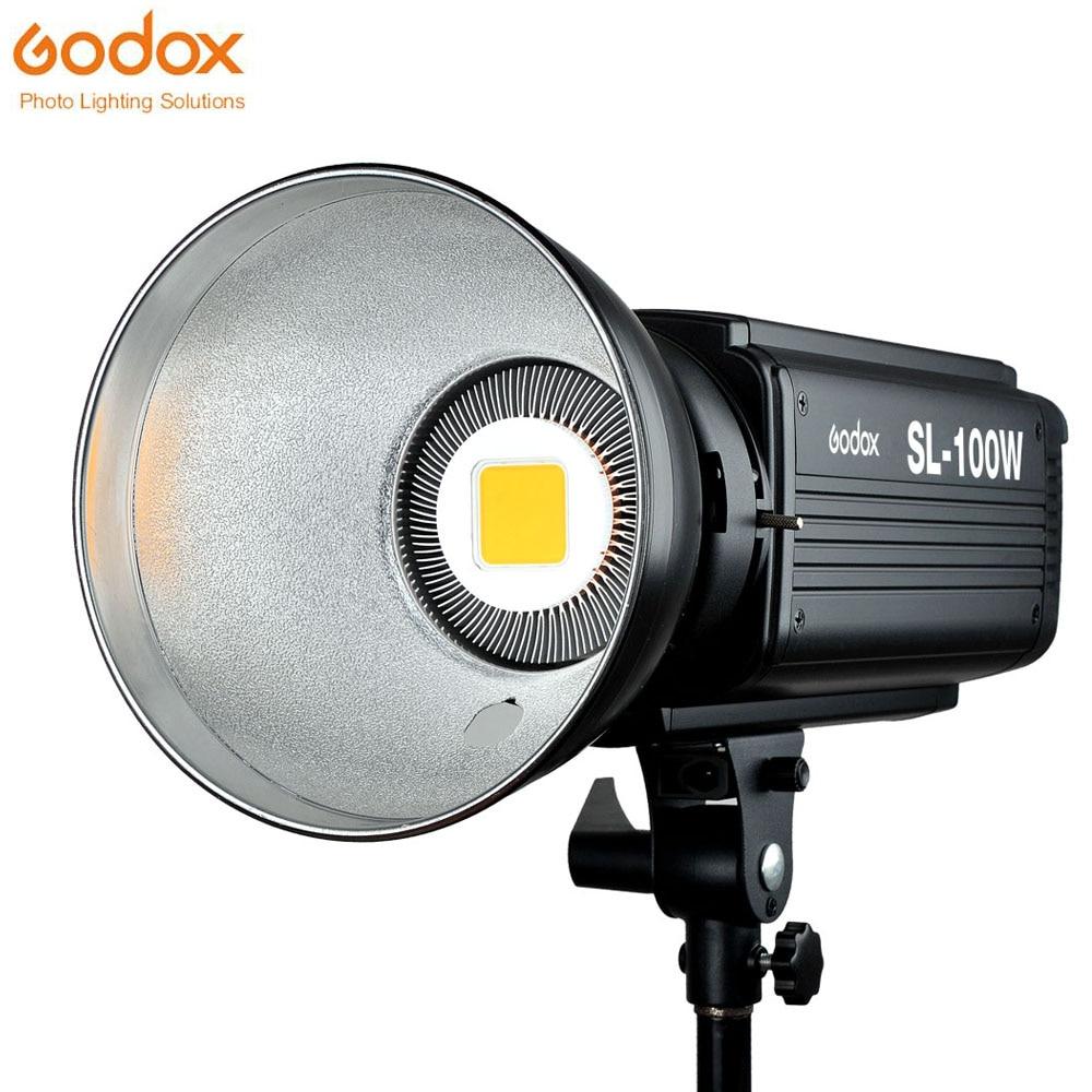 Godox SL-100W LED Video Light 100W White LED Bulbs Lamp Studio Continuous Bowens Mount Photography Lighting 220V 110V