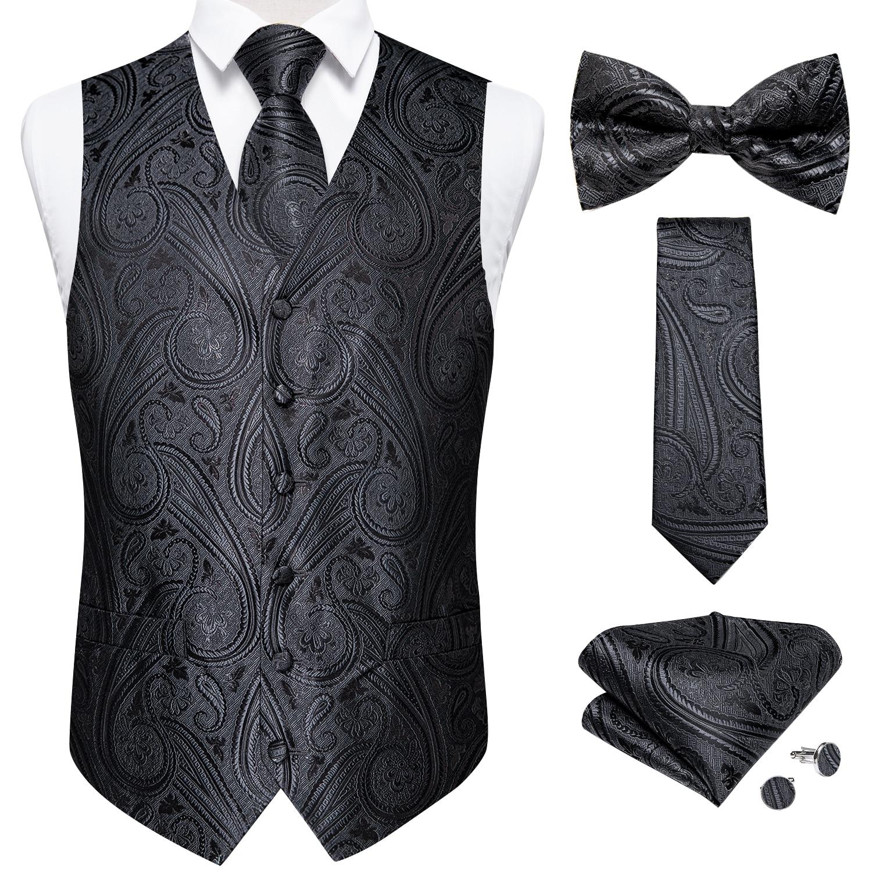 Жилет мужской шелковый, классический пиджак без рукавов, галстук-бабочка, цветочное формальное платье, жилет для свадьбы, вечеринки