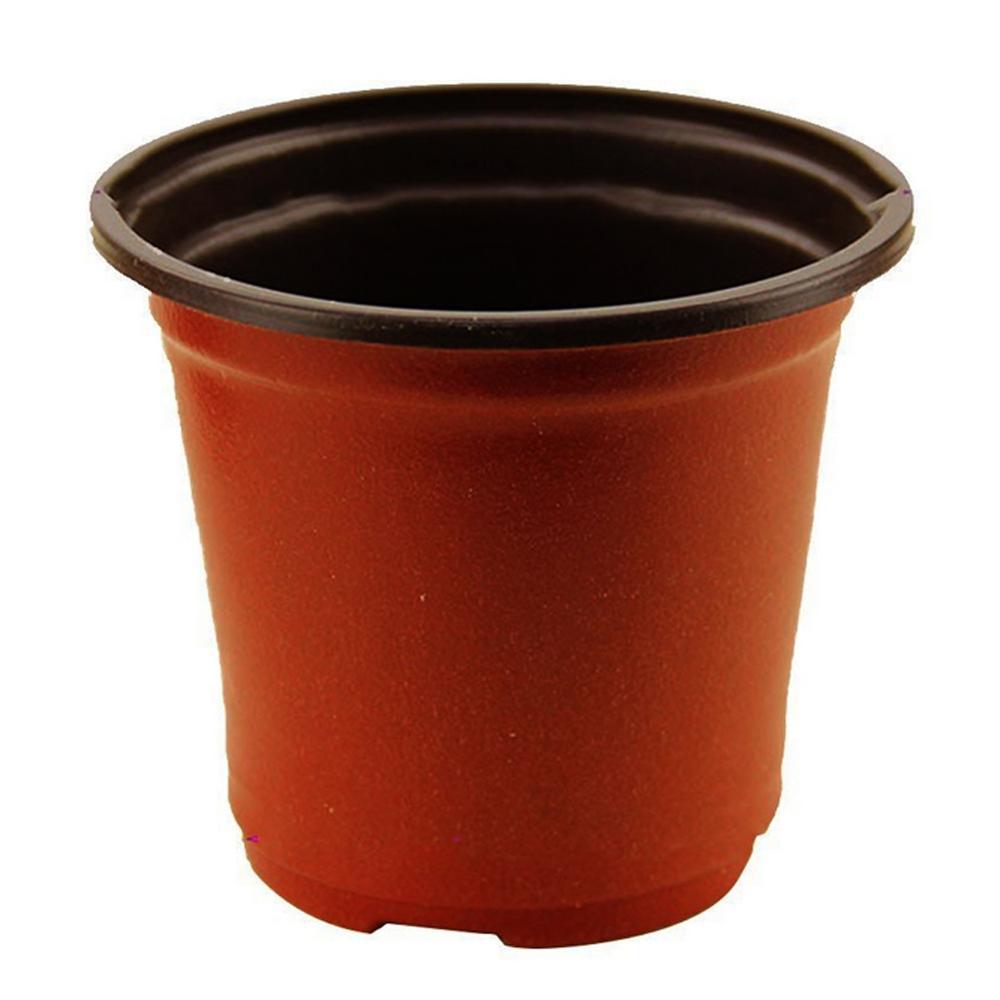 10 pièces pots de fleurs en plastique souple bicolore Durable plateau de semis pépinière pot de plantes conteneur pour la décoration de jardin à la maison